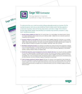 Sage 100 Contractor vs QuickBooks Comparison