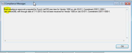 Sage 300 CRE Final Compliance Message