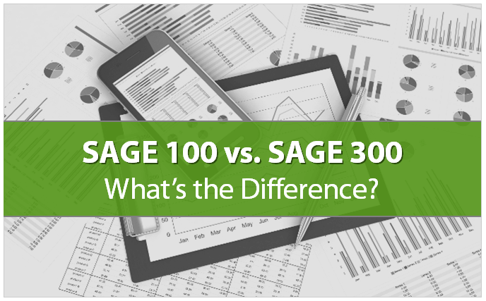 Sage 100 vs Sage 300 Graphic