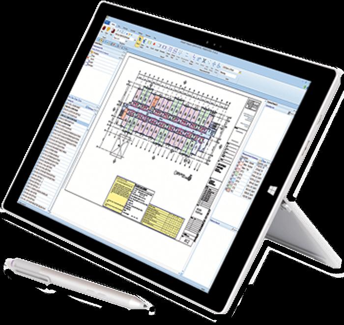 estimating software on tablet