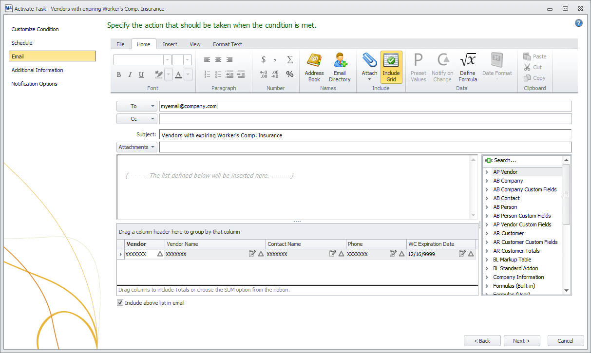MyAssistant email setup