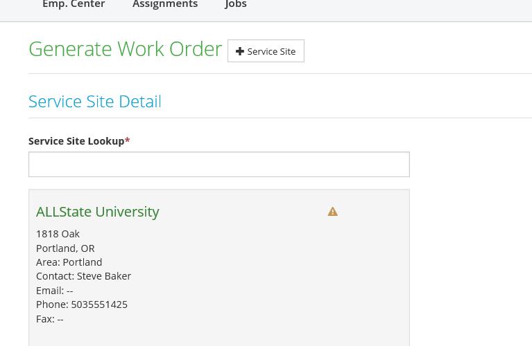 generate work order