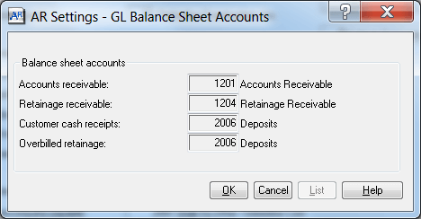 Sgae 300 CRE Accounts Receivable Settings