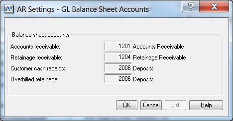Sgae 300 CRE Accounts Receivable Settings