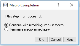 Macro completion