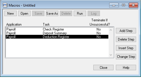 macro deduction register