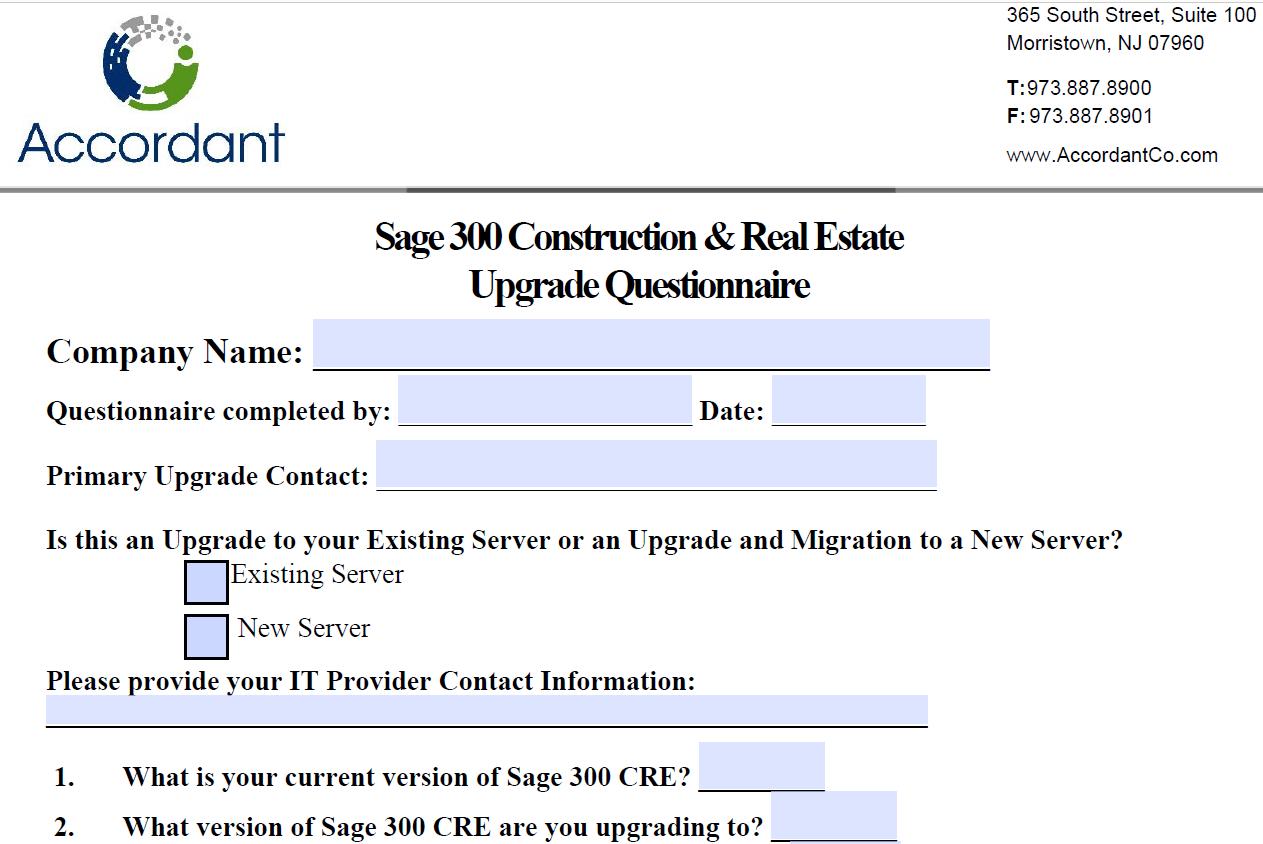 accordant questionnaire