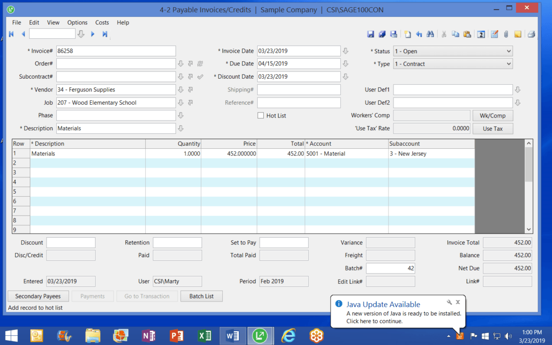 How to Simplify Accounts Payable Data Entry in Sage 100 Contractor