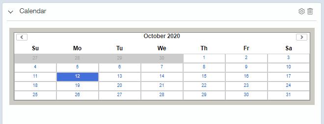 intacct calendar