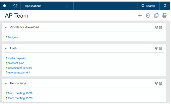 Intacct Apps Links