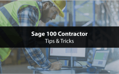 How to Mark Records Inactive in Sage 100 Contractor