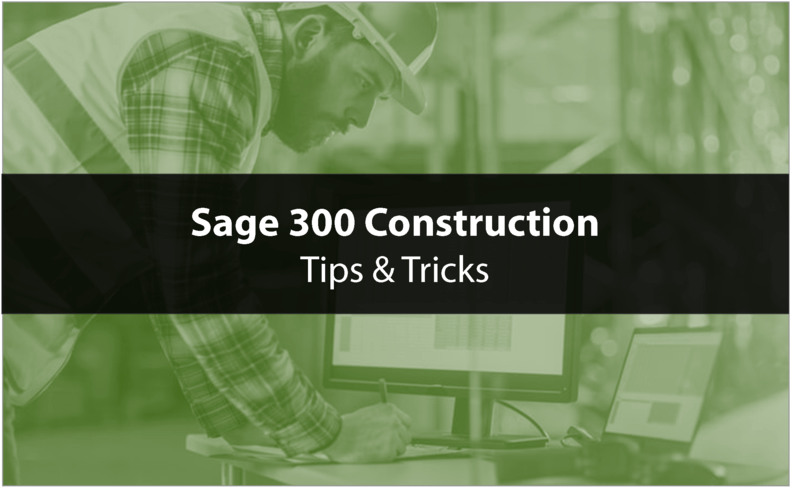 Using Macros in Sage 300 Construction