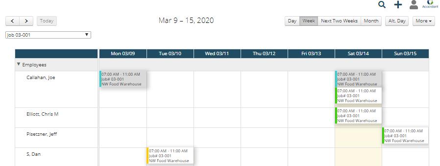 SFO scheduling