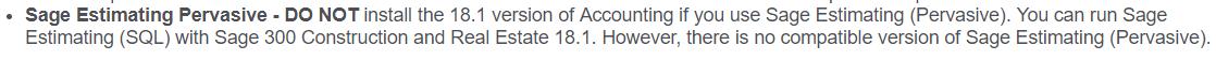 sage estimating SQL version