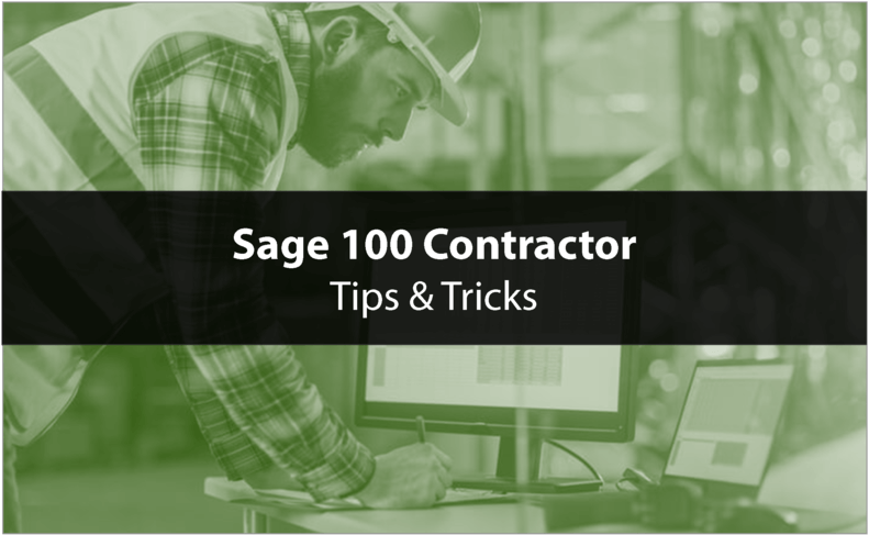 Setting Security in Sage 100 Contractor